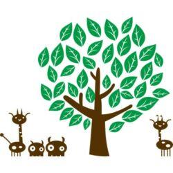 Falmatrica - Állatkák a fa alatt 113 x 91 cm