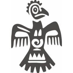 Falmatrica / faltetoválás - Azték madár 58x83 cm