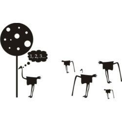 Falmatrica / faltetoválás - Bújócska 74 x 46 cm