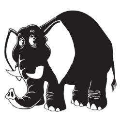 Falmatrica, faltetoválá - Elefánt 46 x 40 cm