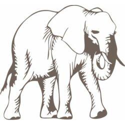 Falmatrica, faltetoválá - Elefánt 58 x 53