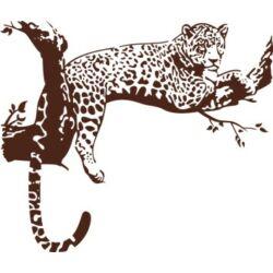 Falmatrica / faltetoválás - Gepárd, 118 x 100 cm