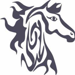 Falmatrica, faltetoválás - Ló, 46 x 46 cm