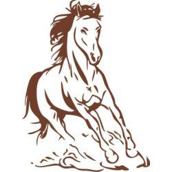 Falmatrica / faltetoválás - Ló, 58 x 78 cm