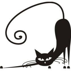 Falmatrica, faltetoválás -  Macs, aki lapít, 46 x 44 cm