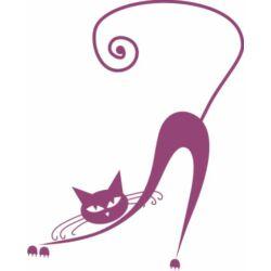 Falmatrica, faltetoválás -  Macs, aki nyújtózkodik, 46 x 64 cm