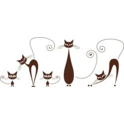 Falmatrica - macskacsalád, 115 x 46 cm