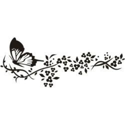 Falmatrica - pillangó kis virágokkal 125 x 58 cm