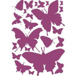 Falmatrica, faltetoválás - pillangók (A4)