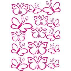 Falmatrica / faltetoválás - 15 pillangó, 21x29 cm