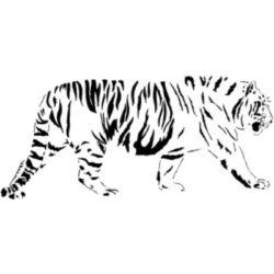 Falmatrica / faltetoválás - Sétáló tigris 115x50cm