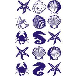 Falmatrica - 15db tengeri herkentyű, 13x13 cm
