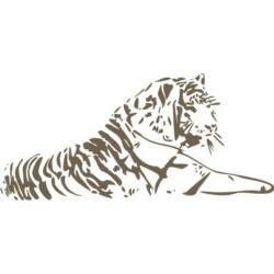 Falmatrica / faltetoválás - tigris 126 x 58 cm