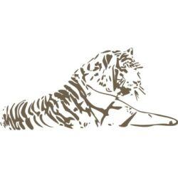 Falmatrica / faltetoválás - tigris, 100 x 46 cm