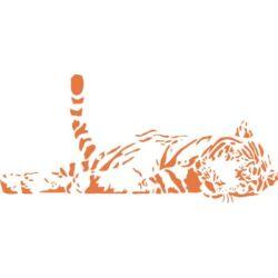 Falmatrica / faltetoválás - Alvó tigris 100x46 cm