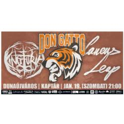 Don Gatto, King Furia, Canens Leap koncertjegy - jan. 19. (sz) Dunaújváros, Kaptár