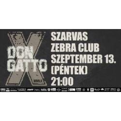 Don Gatto, Méla Undor, Eresz Alá Szorult Uborka koncertjegy - Nov. 2. (p) Szarvas, Zebra Klub, 21:00