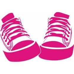 Falmatrica / faltetoválás - cipők, 68 x 46 cm