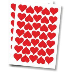Falmatrica, faltetoválás - Szívek, 4 x 3,7 cm, 70 db