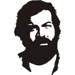 Falmatrica, faltetoválás - Bud Spencer, 46 x 74 cm