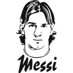 Falmatrica / faltetoválás - Messi, 47 x 84 cm