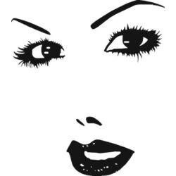 Falmatrica / faltetoválás - női arc, 100 x 114 cm