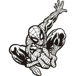 Falmatrica, faltetoválás - Pókember, 46 x 60 cm