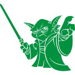 Falmatrica, faltetoválás - Star Wars Yoda, 51 x 46 cm