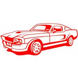 Falmatrica / faltetoválás - Ford Mustang 108x46 cm