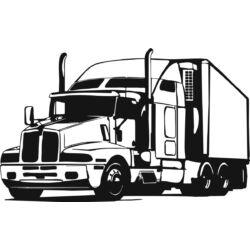Falmatrica / faltetoválás - kamion, 75 x 46 cm