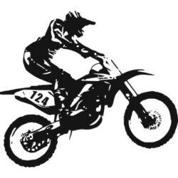 Falmatrica / faltetoválás - motokrossz, 58x51cm