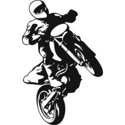 Falmatrica / faltetoválás - motokrossz, 58x90cm