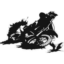 Falmatrica / faltetoválás - motokrossz, 90x58 cm