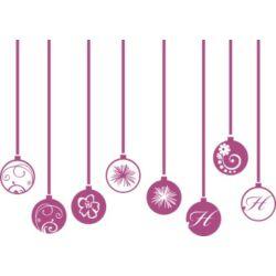 Üvegdekoráció - karácsonyfadíszek (8 db, 11 cm-es átmérővel)
