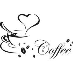 Falmatrica / faltetoválás - Coffee, 100 x 58 cm