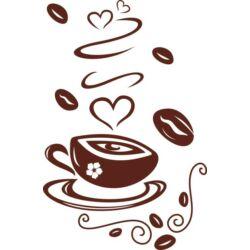 Falmatrica / faltetoválás - kávé, 40 x 61 cm