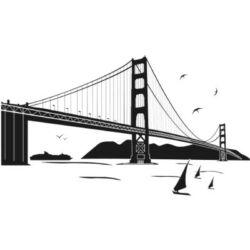 Falmatrica - Golden Gate híd, 120 x 70 cm
