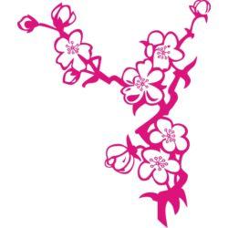 Falmatrica / faltetoválás - cseresznyefa virág