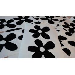 Falmatrica - fekete virágok (80db) 11 cm átmérő