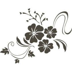 Falmatrica / faltetoválás - 3 virág, 46  x 60 cm