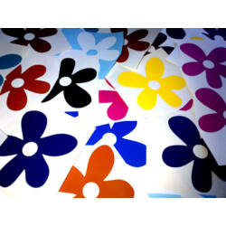 Falmatrica - színes virágok (60db) 7 cm átmérő