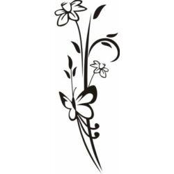 Falmatrica - virág és pillangó 43 x 115 cm