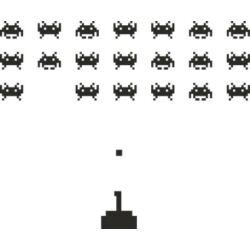 Falmatrica, faltetoválás - Space Invaders, 144 x 107 cm