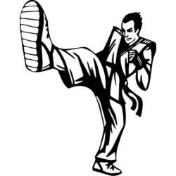 Falmatrica / faltetoválás - Karate 58 x 75 cm