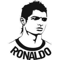 Falmatrica / faltetoválás - Ronaldo 47 x 65 cm
