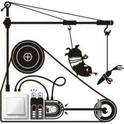 Falmatrica - villanykapcsoló hörcsög 37 x 36 cm