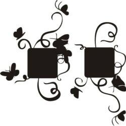 Falmatrica, faltetoválás - Villanykapcsoló pillangók 2db