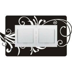 Falmatrica, faltetoválás - Villanykapcsoló szárak, dupla, 26,5 x 15 cm