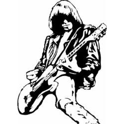 Falmatrica, faltetoválás - The Ramones, Johnny Ramone, 46 x 64 cm